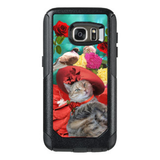 CELEBRITY CAT PRINCESS TATUS, RED HAT WITH PIGEON OtterBox SAMSUNG GALAXY S7 CASE