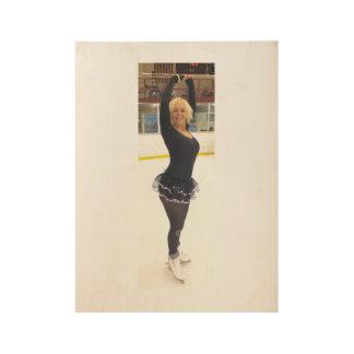 Celebrity Ishah Laurah Wright Figure Skating Wood Poster