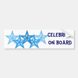Celebrity on board bumper stickers