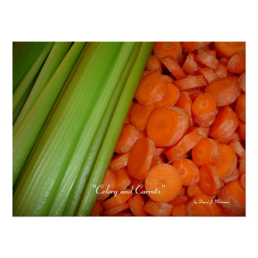 Celery and Carrots Poster