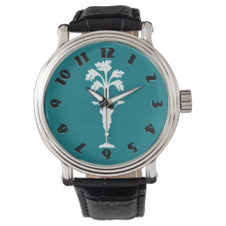 'Celery Charles'  Dark Aqua Watch Leather Strap