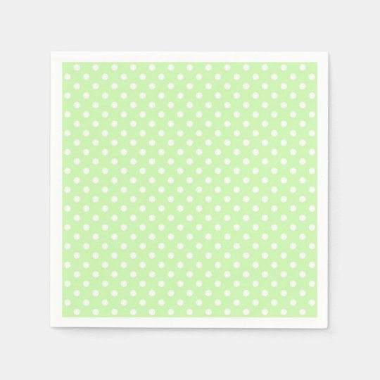Celery Green and White Polka Dot Pattern Paper
