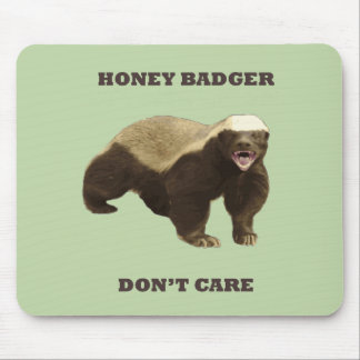 Celery Root Honey Badger Don't Care Pattern Mousepads