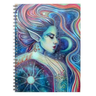 Celesta Fantasy Fairy Art Moons and Stars Notebook