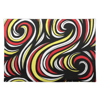 Celeste Abstract Expression Yellow Red Placemats