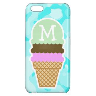 Celeste Camo; Ice Cream Cone iPhone 5C Case