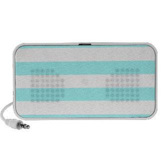 Celeste Horizontal Stripes; Striped Mini Speakers
