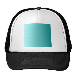 Celeste to Teal Vertical Gradient Mesh Hats