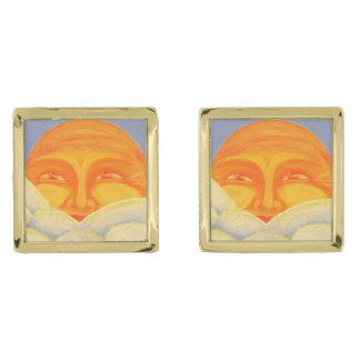 Celestial #2 Cufflinks Gold Finish Cufflinks