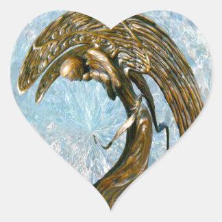 Celestial Angel Heart Stickers