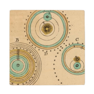 Celestial Atlas 6 Wood Coaster