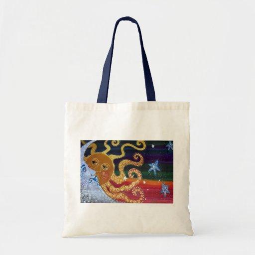 Celestial Canvas Bags