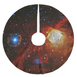 Celestial Bauble - Nebula N90 and Pulsar SXP1062 Brushed Polyester Tree Skirt