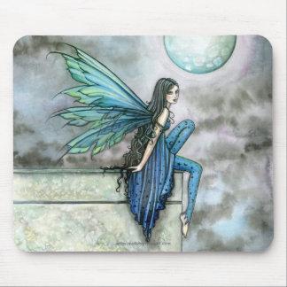 Celestial Blue Fairy Art Mousepad