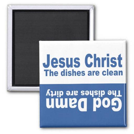 """Celestial Blue """"Jesus Christ"""" Dishwasher Magnet"""