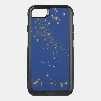 Celestial Blue Starry Skies with Monogram OtterBox Commuter iPhone 7 Case