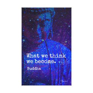 Celestial Buddha Mindfulness Wisdom Quote Canvas Print