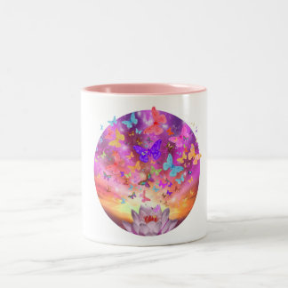 Celestial Butterfly Two-Tone Coffee Mug