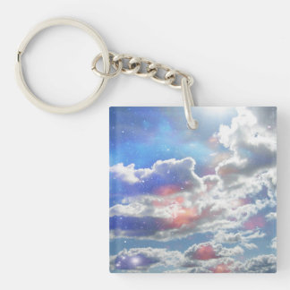 Celestial Clouds Key Ring