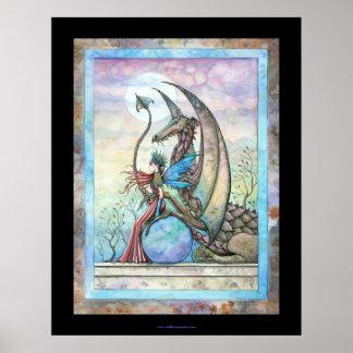 Celestial Companions Fairy Dragon Poster