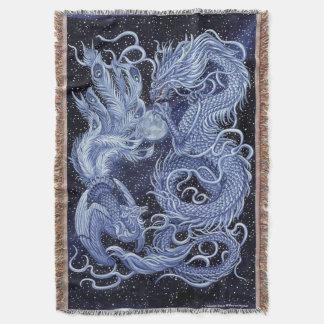 Celestial Dance Dragon & Phoenix Throw Blanket