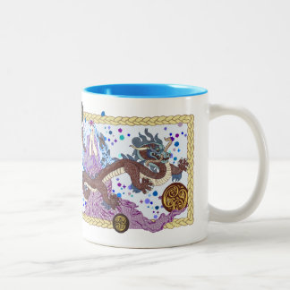 Celestial Dragon Banner Two-Tone Coffee Mug