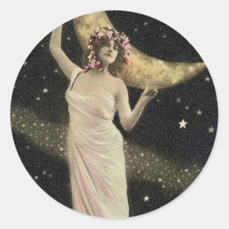 Celestial Drama Queen Classic Round Sticker