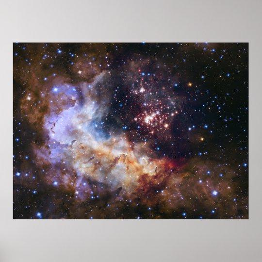 Celestial Fireworks - Westerlund 2 Poster