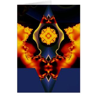 Celestial flower card