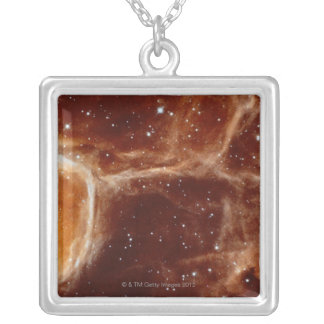 Celestial Geode Silver Plated Necklace