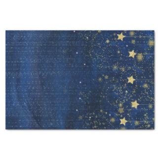 Celestial Gold Stars Sparkle Night Sky Custom Gift Tissue Paper