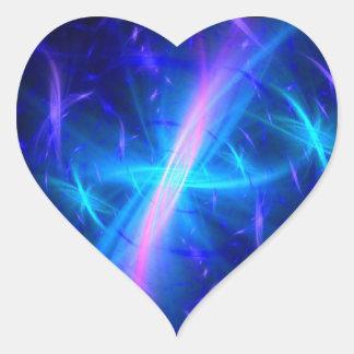 Celestial Grace Heart Sticker