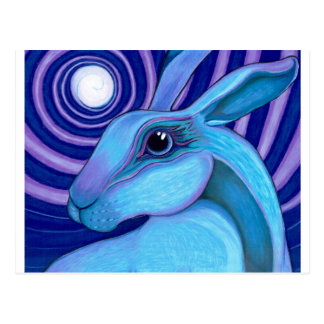Celestial hare postcard