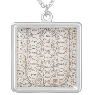 Celestial ladder silver plated necklace