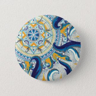 Celestial Mandala 6 Cm Round Badge