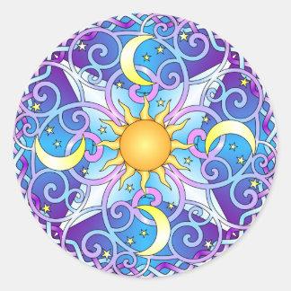 Celestial Mandala Classic Round Sticker