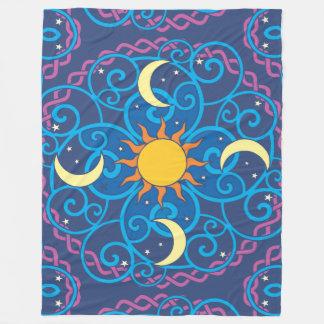 Celestial Mandala Fleece Blanket