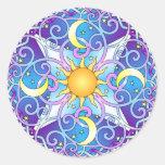 Celestial Mandala Round Sticker