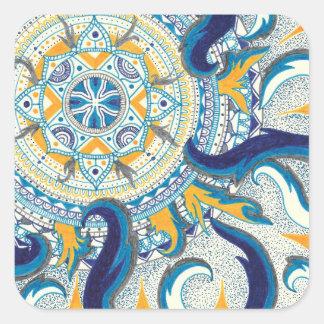 Celestial Mandala Square Sticker