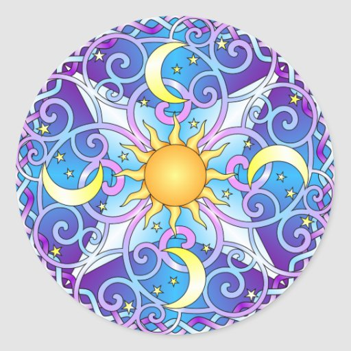 Celestial Mandala Sticker