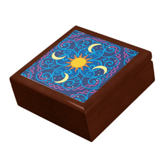 Celestial Mandala Wooden Keepsake Box