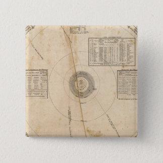 Celestial map 15 cm square badge