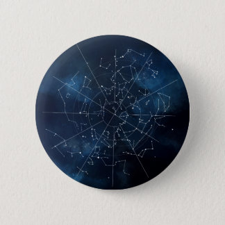 Celestial Map 6 Cm Round Badge