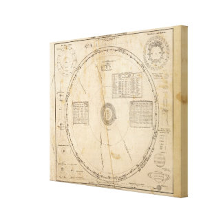 Celestial map canvas print