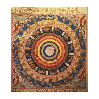 Celestial map, from 'Zubdet ut Teverih' by Canvas Print