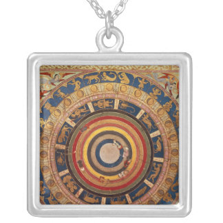 Celestial map, from 'Zubdet ut Teverih' by Silver Plated Necklace