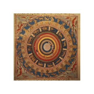 Celestial map, from 'Zubdet ut Teverih' by Wood Wall Decor