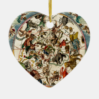 Celestial map.jpg ceramic heart decoration