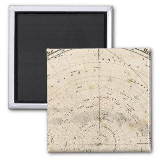 Celestial map magnet