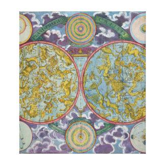 Celestial Map of the Planets Canvas Print